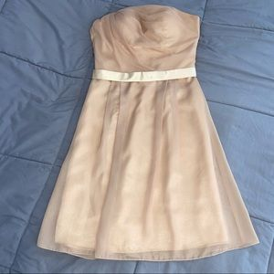 Anny Lee Gold Strapless Dress (size M)